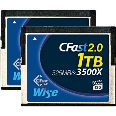 Wise 1TB CFast 2.0 記憶卡 (525MB/s)  2張